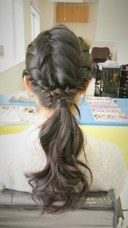 fishtail braided single tail